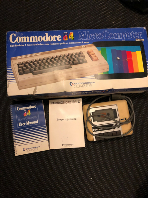 Commodore 64, spillekonsol, God, Commodore 64 i original…