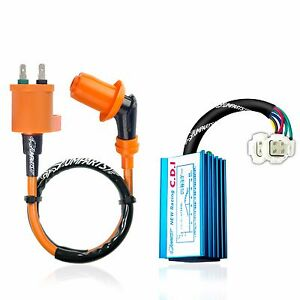 PERFORMANCE IGNITION COIL /& RACING CDI BOX FOR HONDA XR 50 XR50R 2000-2003