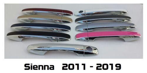 Custom Color /& Chrome Door Handle Overlays 2011-2019 Toyota Sienna YOU PICK CLR