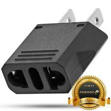 European Adapter Fosmon Type C EU to USA & Canada Travel Adapter Plug 2