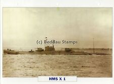 1923 HMS X1 Submarine Cruiser Ship / GB Warship Photograph Maxi Card