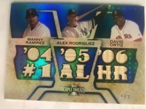 2008 Topps Triple Threads AL HOME RUN KINGS Manny Ramirez AROD David Ortiz 1/3