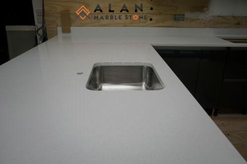 Snow White Quartz  Worktop Sample Kitchen Granite Marble All colour available