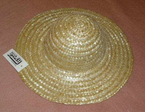 Straw Doll Hat 10 Tan  Woven for or Bear or  Decorations (NWT) New with Tags