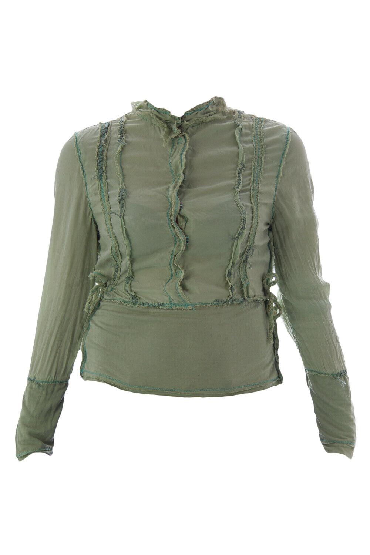 SHANGANA Turquoise Silk Snap Snap Snap Button Blouse SHS-B-404 NEU c3f