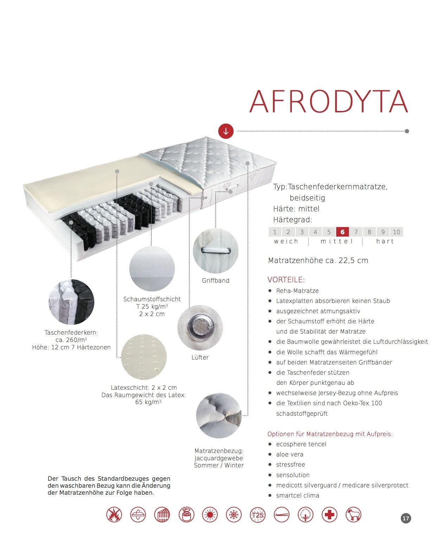 7 Zonen Taschenfederkernmatratze AFRODYTA Matratze 80-190 bis 200-200 cm