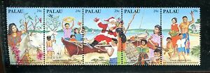 PALAU 317, 1993 CHRISTMAS, STRIP OF 5, MNH (ID5635)