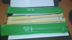 Two-Vintage-Hohner-Melody-Blockflote-Recorder-Flutes-9508-C-Sopran-1-Germany