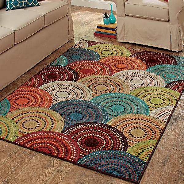 Better Homes And Gardens Rowan Print Area Rugs Or Runner Teal 5 X