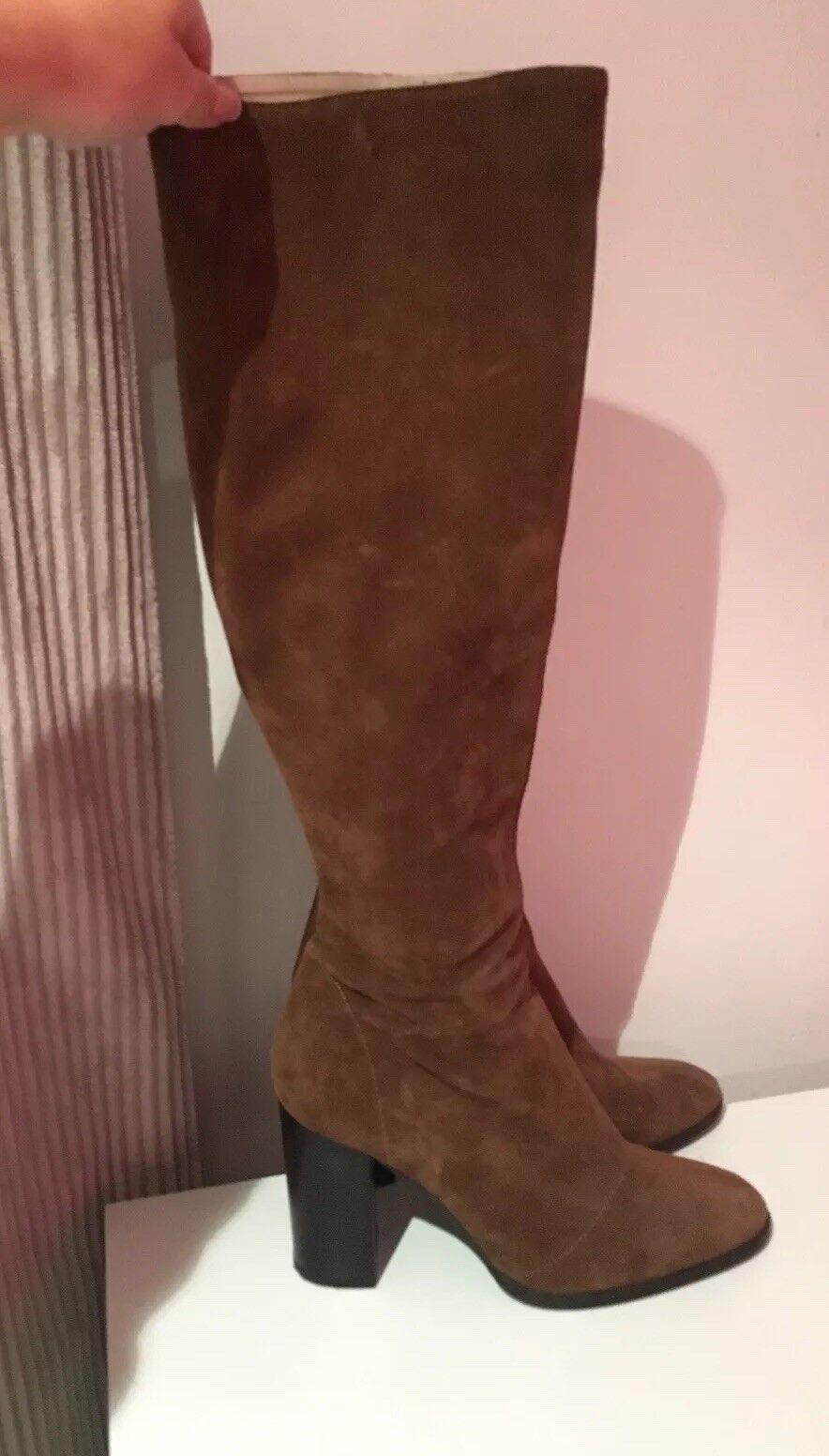 Zara Suede High Heeled Knee High Stiefel - Größe 7 - Only Worn Once