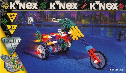 Vintage K'NEX POWER CRUISING CYCLES    - New  Box Damaged  Set 21112 Rare 1996 877dde