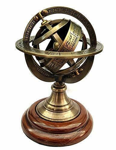 Antique Style Brass Globe Armillary Sphere Astrolabe Globe Home & Office Décor