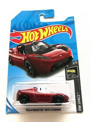 Tesla Roadster with Starman Hot Wheels 2019 Hw Space 2//5 109//250 Mattel