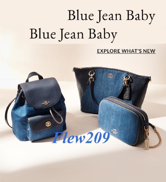 cec976ea502 Coach Mini Billie Denim Leather Backpack Bag F24598 for sale online ...