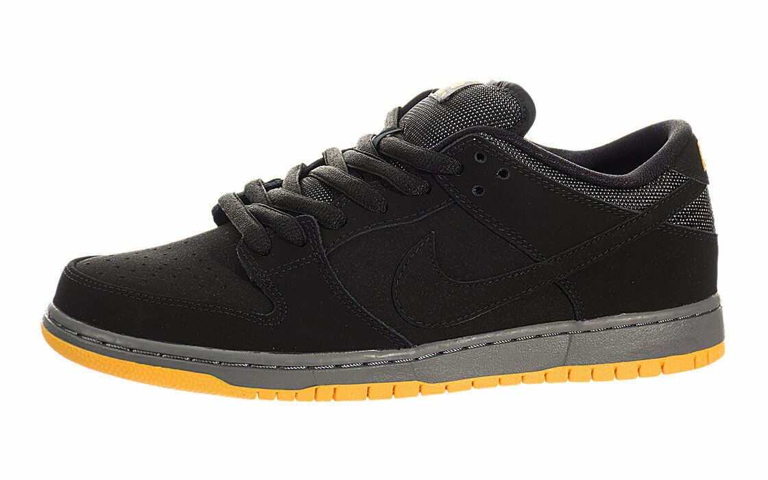 Nike DUNK LOW PRO SB (2014) Black University Gold 304292-046 (481) Men's Shoes