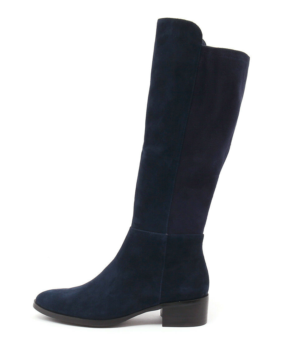 New Django & Juliette Tetley Navy Suede Navy Navy Womens Shoes Casual Boots Long