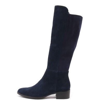 New Django & Juliette Tetley Navy Navy Womens Shoes Casual Boots Long