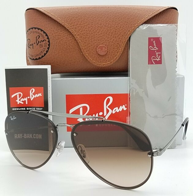 74e60dbb6d NEW Rayban Blaze Aviator sunglasses RB3584N 004 13 61mm Brown Gradient  AUTHENTIC