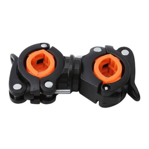Mount Bicycle Flashlight Holder Bike Clamp Light Clip Fix Bracket 360 Rotation Q