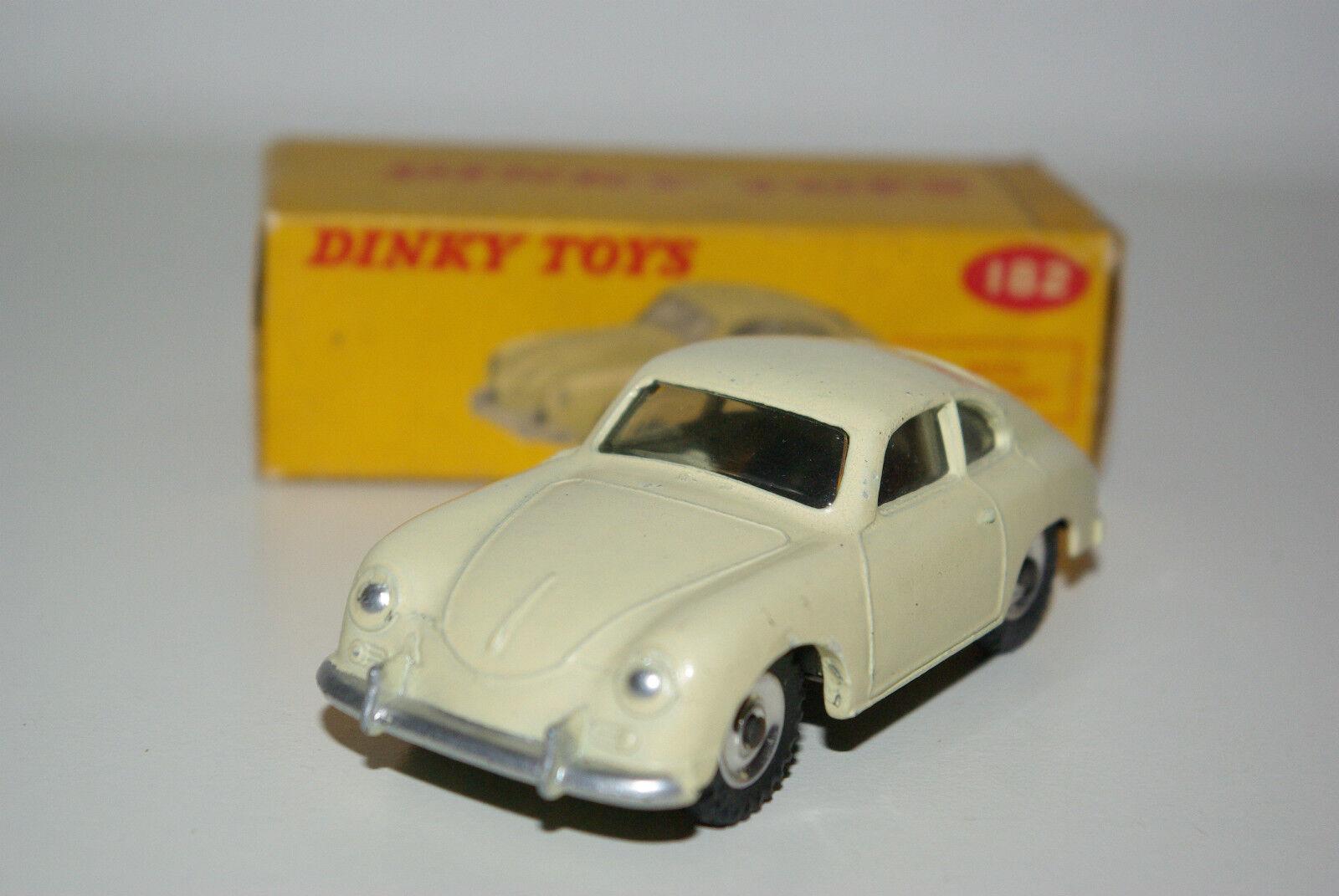 P DINKY SpielzeugS 182 PORSCHE 356 A COUPE CREAM SPUN NEAR MINT BOXED RARE SELTEN RARO