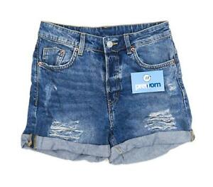 Womens-Divided-Blue-Denim-Shorts-Size-6-L3