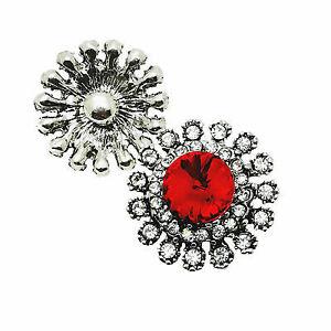 3D Crystal Heart Chunk Charm Snap Button Fit For Noosa Necklace//Bracelet  NSKZ5