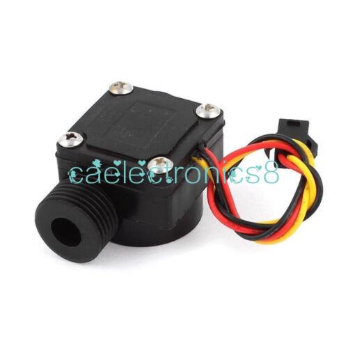 G1//2 Water Flow Sensor Fluid Flowmeter Switch Counter 1-30L//min Meter CA