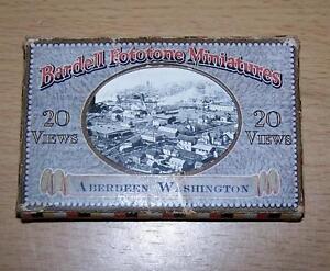 1920-MINIATURE-PHOTO-Album-Of-ABERDEEN-WASHINGTON-USA