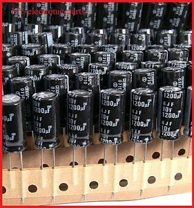 Japan Electrolytic Capacitor ELNA 1200uF 50V long leads 5 pc