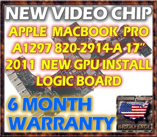 APPLE MACBOOK PRO A1297 820-2914-A 17 2011 LOGIC BOARD REPAIR - NEW GPU REBALL