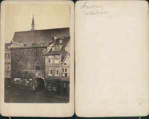 Allemagne Aachen Cathedrale Vintage CDV Albumen Carte De