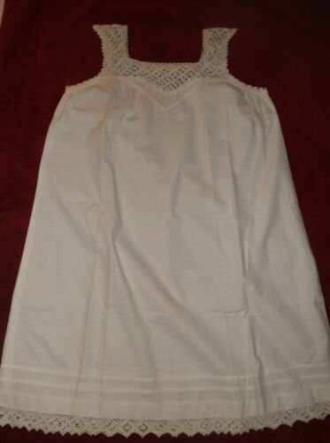 Antique girl's nightgown, vintage 1910s, white cot