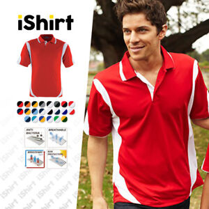 MENS-POLO-SHIRT-100-POLYESTER-COOL-DRY-BREATHABLE-CONTRAST-SPORTS-POLO