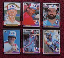 1985 Donruss Montreal Expos Baseball Team Set (25 Cards) ~ Pete Rose Gary Carter