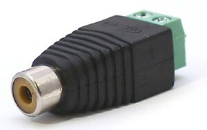 Cinch-Buchse-RCA-Adapter-Terminal-Block-Schraubanschluss-Chinch