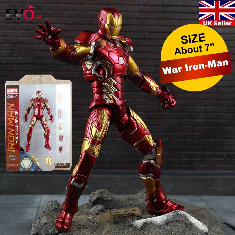7'' Avengers Infinity War Iron-Man Thanos Infinity Gauntlet Figure Toy Gift