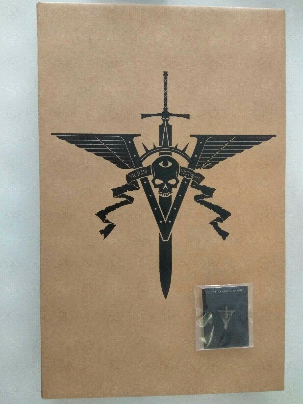 Warhammer 40k Imperium vigilus Defiant Collector's slipcase edition oop  & badge  beaucoup de surprises