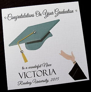image is loading personalised congratulations on your graduation card female or