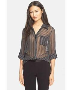 de1020b5a7052b DVF Diane Von Furstenberg LORELEI TWO Silk Blouse Top Rope Stripe ...