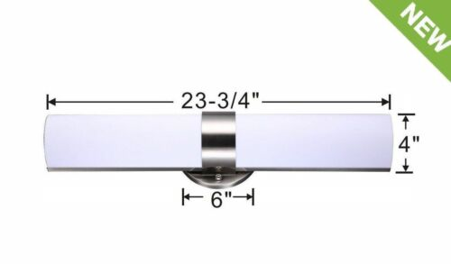 NEW LED Brushed Nickel Modern Frosted Bathroom Vanity Light Fixture Dimmable