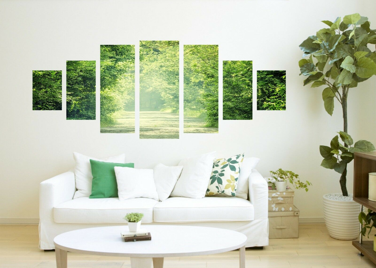 3D Green Leaves Trees Road 126 Unframed Print Wall Paper Deco Indoor AJ Summer