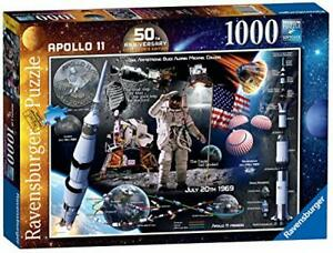 Jigsaw-Puzzle-APOLLO-11-1000-piece-Collector-039-s-Edition-Moon-Planets-Astronomy