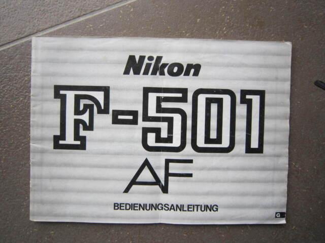 NIKON F-501 - BEDIENUNGSANLEITUNG-DEUTSCHE SPRACHE-ORIGINAL-TOP ZUSTAND