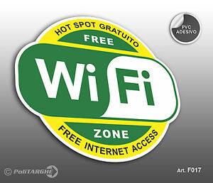 Cartello-adesivo-Wi-Fi-Free-Hot-Spot-gratuito-Free-Internet-Access-Free-Zone