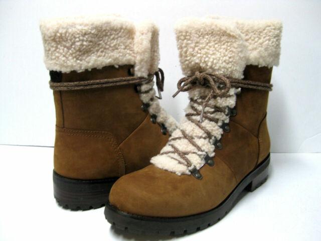 146344876b6 UGG Fraser SHEEPSKIN Shearling LEATHER Combat WINTER Snow HIKER BOOT Womens  size