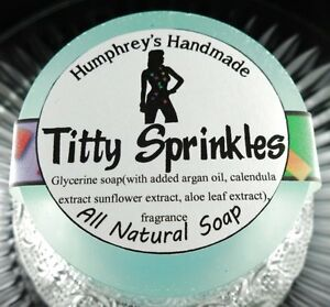 TITTY-SPRINKLES-Shave-amp-Shampoo-Soap-Argan-Oil-Birthday-Cake-Scented-Crude-Funny