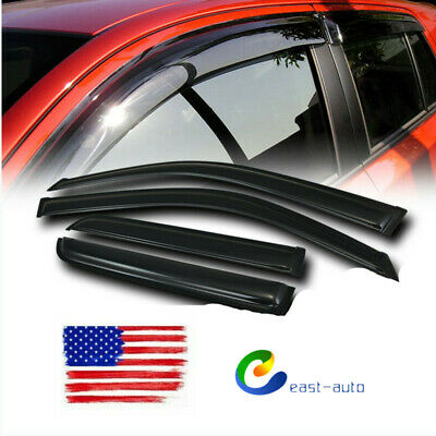 Smoke Tinted Out-Channel Vent Visor Deflector 4pcs For 2003-2009 Toyota 4Runner