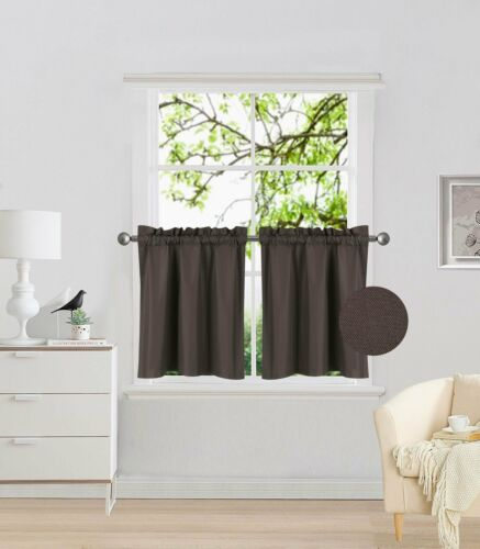 "2PCS Panels 24/"" Curtains Blackout Curtains for Camper Windows Small Brown Coffee"
