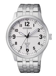 CITIZEN-BI1050-81B-Mens-Watch-WR50m-Silver-NEW-in-Box-RRP-225-00