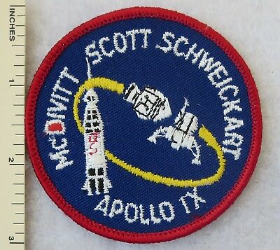NASA APOLLO Space Program Morale Hook Patch Embroidered Badge Vintage Gray Blue